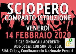 SCIOPERO DEL 14 FEBBRAIO 2020