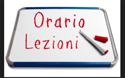 Orario  settimana dal 05/10/2020 al 09/10/2020 scuola secondaria I° plesso Aldo Moro