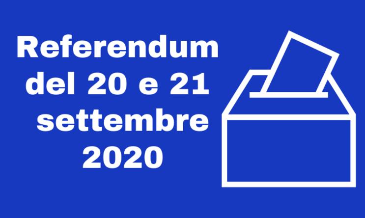 REFERENDUM COSTITUZIONALE DI DOMENICA 20 SETTEMBRE 2020 – Disponibilità dei locali scolastici per l'allestimento dei seggi e chiusura plesso Aldo Moro